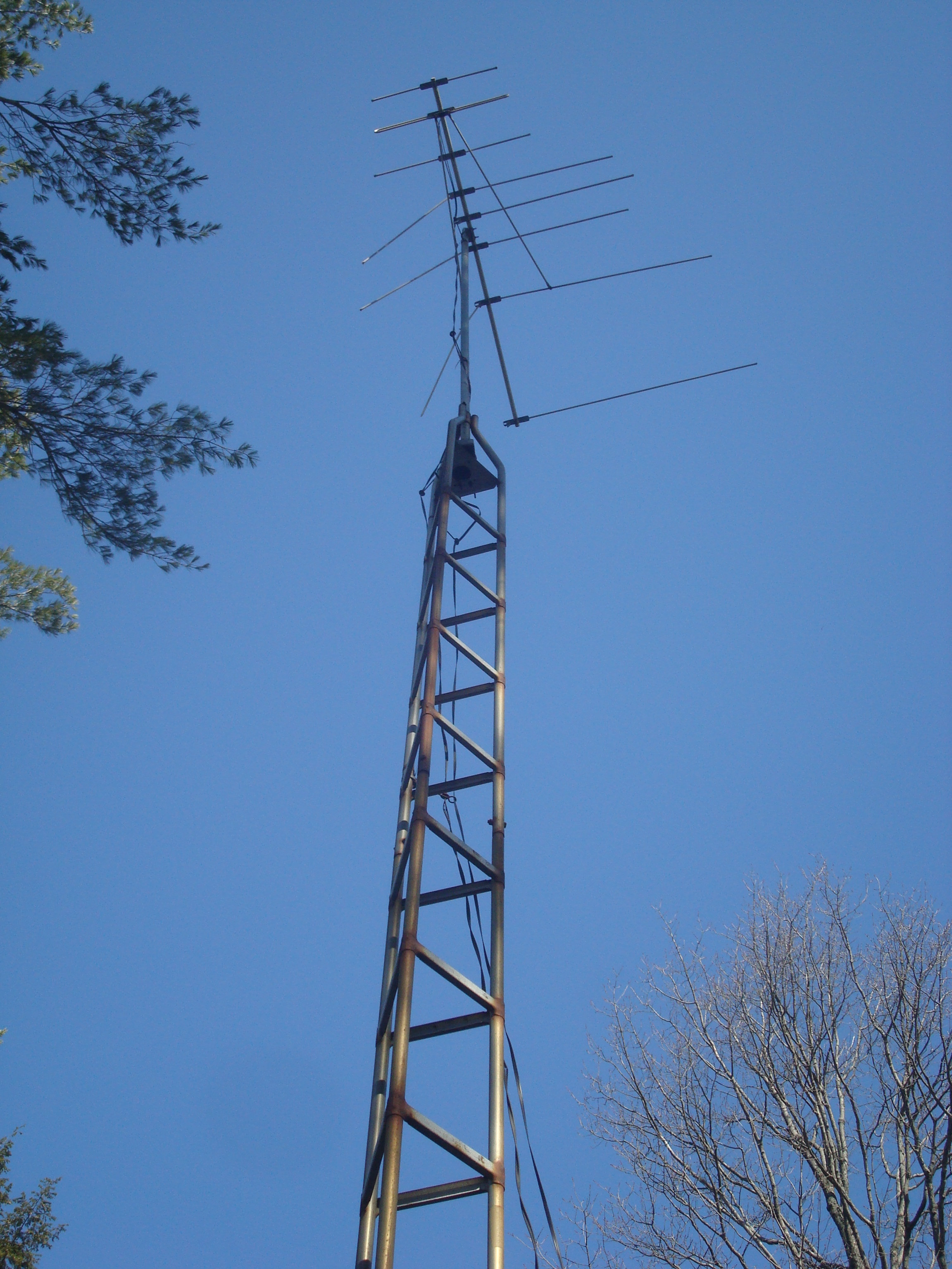 how to raise an antenna tower